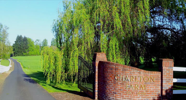 Charlton Farm brick gated entrance
